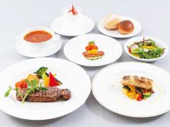 洋食ミニコース(アミューズ、スープ、サラダ、魚or肉料理、パンorライス、デザート、コーヒー)
